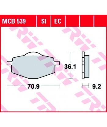 Stabdžių trinkelės MCB539