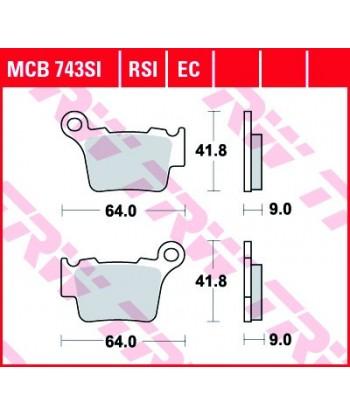 Stabdžių trinkelės MCB743SI