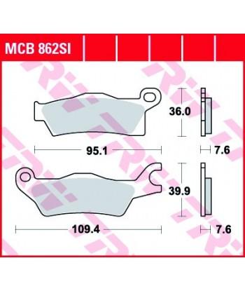 Stabdžių trinkelės MCB862SI