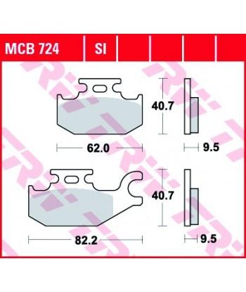 Stabdžių trinkelės MCB724SI