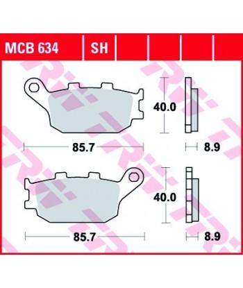 Stabdžių trinkelės MCB634