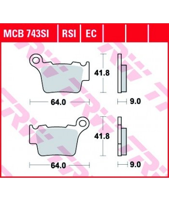 Stabdžių trinkelės MCB743RSI