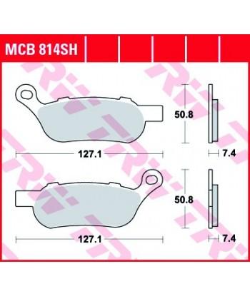 Stabdžių trinkelės MCB814SH