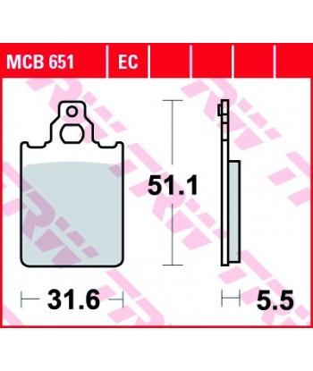 Stabdžių trinkelės MCB651EC