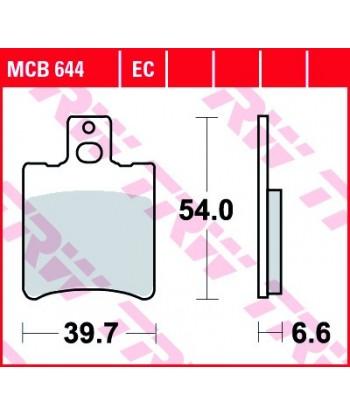 Stabdžių trinkelės MCB644