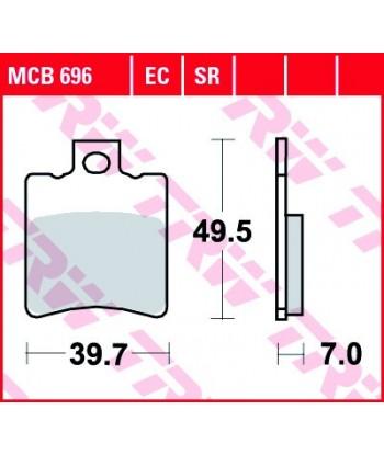 Stabdžių trinkelės MCB696
