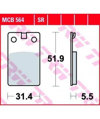 Stabdžių trinkelės MCB564