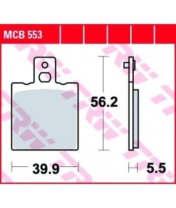 Stabdžių trinkelės MCB553