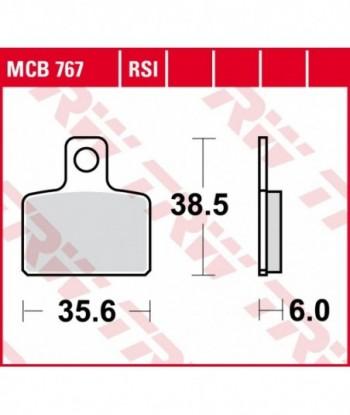 Stabdžių trinkelės MCB767