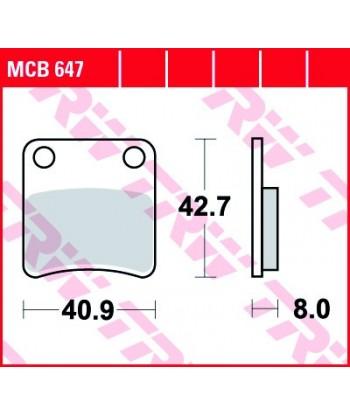 Stabdžių trinkelės MCB647