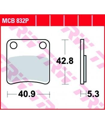 Stabdžių trinkelės MCB832P