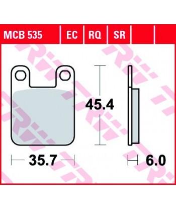 Stabdžių trinkelės MCB535SR