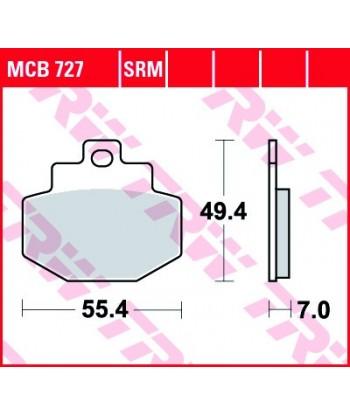 Stabdžių trinkelės MCB727
