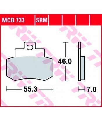 Stabdžių trinkelės MCB733