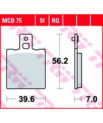 Stabdžių trinkelės MCB75RQ