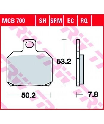 Stabdžių trinkelės MCB700