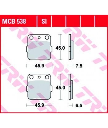 Stabdžių trinkelės MCB538