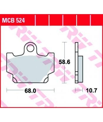 Stabdžių trinkelės MCB524