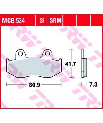 Stabdžių trinkelės MCB534