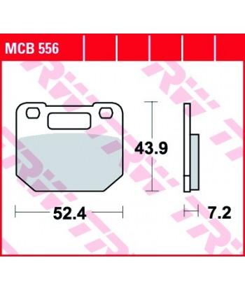 Stabdžių trinkelės MCB556