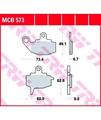 Stabdžių trinkelės MCB573