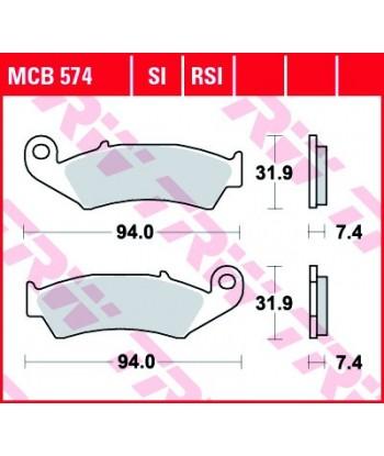 Stabdžių trinkelės MCB574