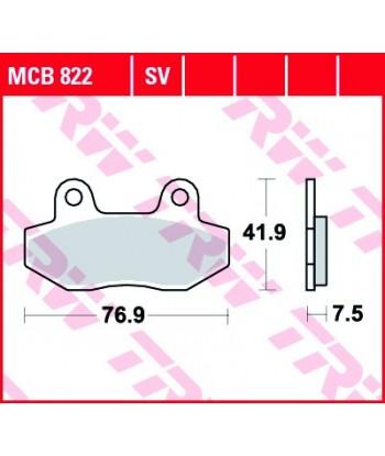 Stabdžių trinkelės MCB822
