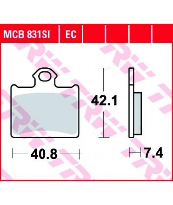 Stabdžių trinkelės MCB831SI