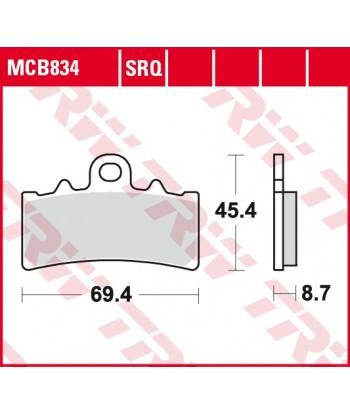 Stabdžių trinkelės MCB834