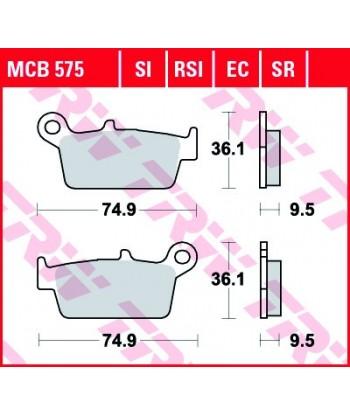 Stabdžių trinkelės MCB575SI