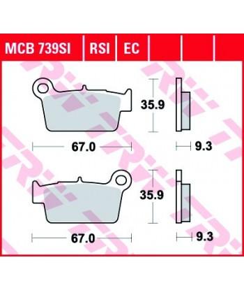 Stabdžių trinkelės MCB739SI