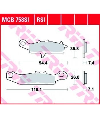 Stabdžių trinkelės MCB758SI