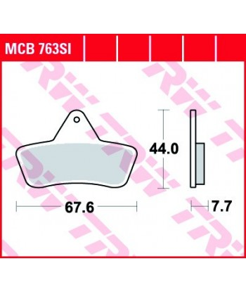 Stabdžių trinkelės MCB763SI