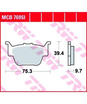Stabdžių trinkelės MCB769SI