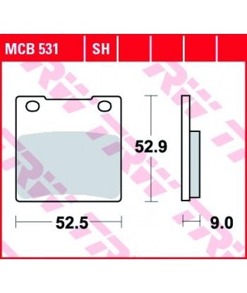 Stabdžių trinkelės MCB531