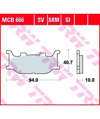 Stabdžių trinkelės MCB666
