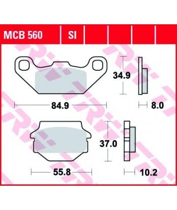Stabdžių trinkelės MCB560SI