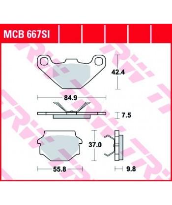 Stabdžių trinkelės MCB667SI