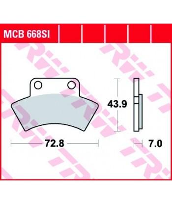 Stabdžių trinkelės MCB668SI