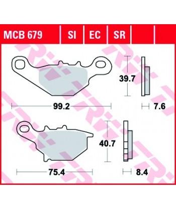 Stabdžių trinkelės MCB679SI