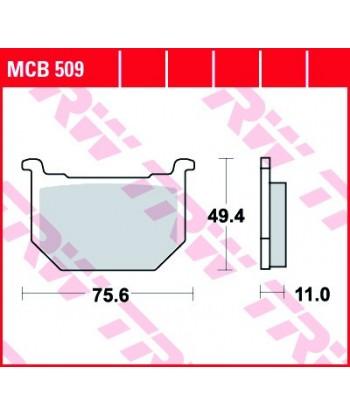 Stabdžių trinkelės MCB509