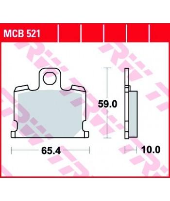 Stabdžių trinkelės MCB521