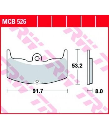 Stabdžių trinkelės MCB526
