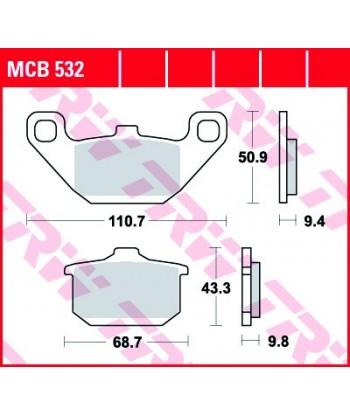 Stabdžių trinkelės MCB532
