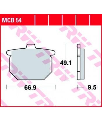 Stabdžių trinkelės MCB54