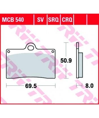 Stabdžių trinkelės MCB540