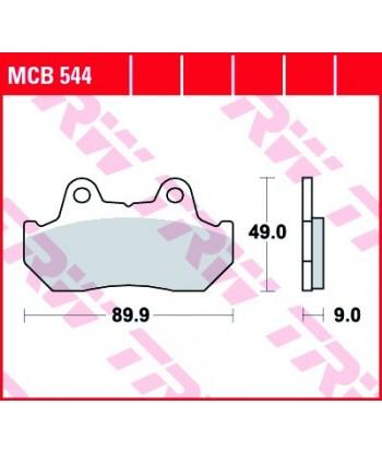 Stabdžių trinkelės MCB544