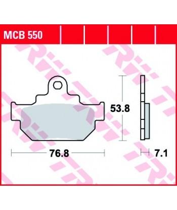 Stabdžių trinkelės MCB550