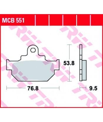 Stabdžių trinkelės MCB551