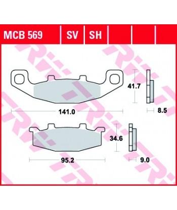 Stabdžių trinkelės MCB569